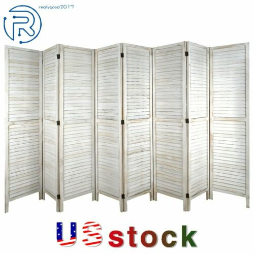 8-6-4 Panel Room Divider 5.6Ft Tall Wood Folding Stand Partition Privacy Screens
