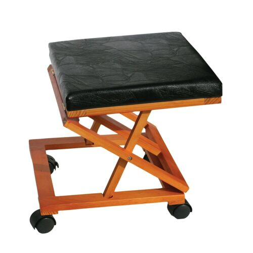 ETNA Expanding Foot Rest Rolling Collapsible Folding Foot Stool Ottoman