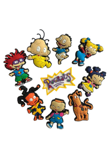New Rugrats Shoe Charms FOR Crocs - 9 Pieces