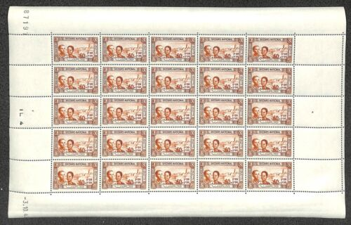 [OPG1157] Tunisia 1944 lot of 3x 4 very fine MNH sheets