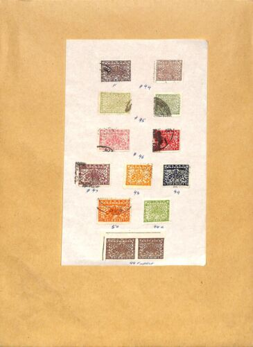 [OP2077] Asia lot of stamps on 12 pages