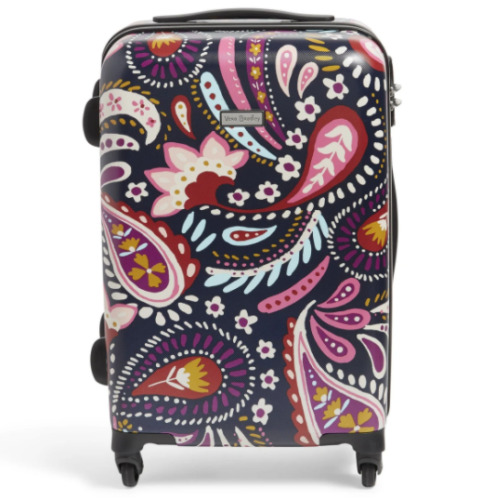 """Vera Bradley Hardside Spinner 22"""" Suitcase Painted Paisley with Free luggage ID"""