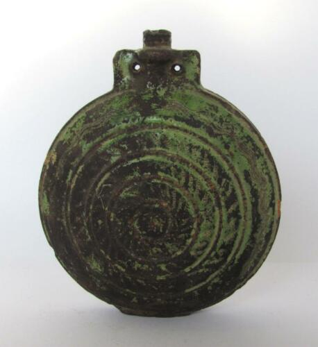 19C. ANTIQUE PRIMITIVE GLAZED POTTERY CERAMIC BABY FEEDER FLASK BOTTLE
