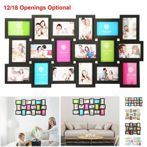 12/18 Photos Large Multi Picture Frame Collage Aperture Decor Memories Home Wall