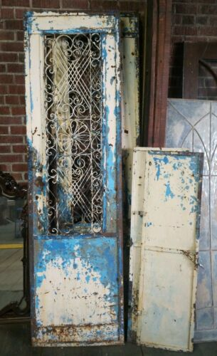 Vintage Heavy Duty Security Doors w/ Window Inserts