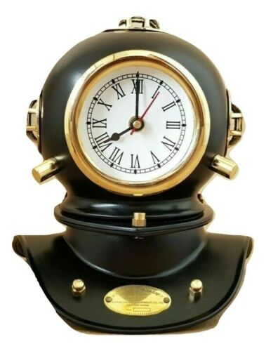 Vintage Clock Diving Helmet U.S Navy Mark IV Antique Divers Helmet Replica Gift