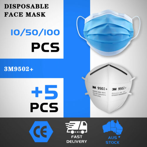 50/100pcs Disposable Face Mask Protective Masks 3 Layer vacuum separate pack