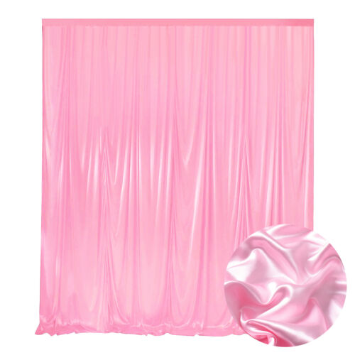 10x10ft Ice Silk Backdrop Curtain for Wedding Ceremony Photography Banquet Party