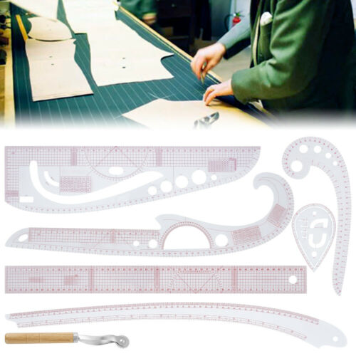 7pcs French Curve Sewing Pattern Ruler Measure Dressmaking Tailor*Support Tool🍄