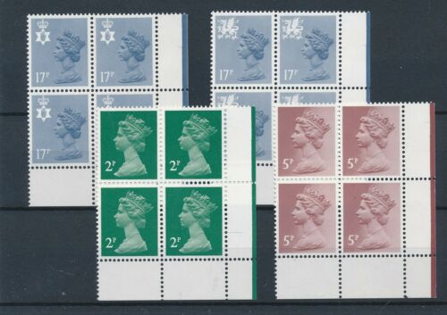 [21031] Great Britain good lot in blocks of 4 stamps very fine MNH