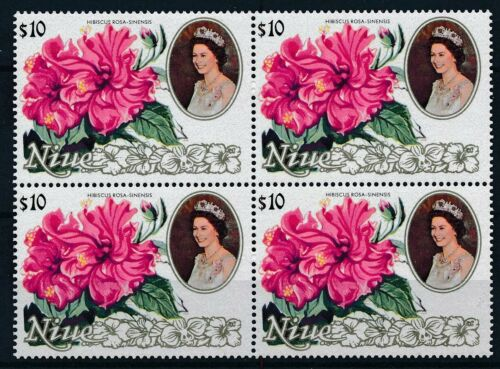 [P15699]. Niue 1981 : Flowers - 4x Good Very Fine MNH Stamp in Block - $75