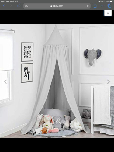 TILLYOU Baby Bed Canopy, 100% Cotton Canopy for Crib and Toddler Bed