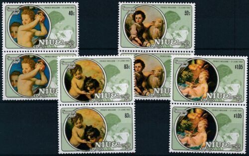 [P15651] Niue 1982 : 2x Good Set Very Fine MNH Stamps in Pairs