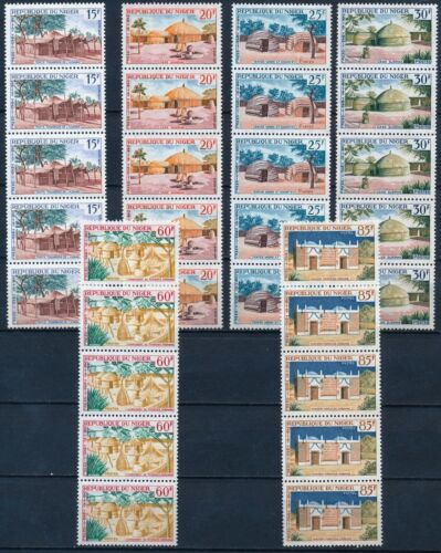 [P16114] Niger 1964 : 5x Good Set Very Fine MNH Stamps in Strips
