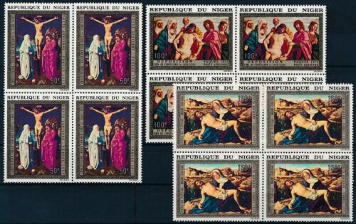 [P16128] Niger 1973 : Art - 4x Good Set Very Fine MNH Airmail Stamps in Blocks