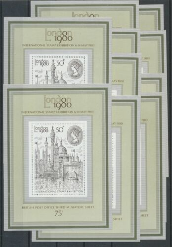 [P684] Great-Britain 1980 good sheets very fine MNH (10x)