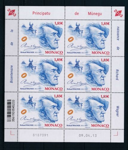 [G27893] Monaco 2013 Wagner Compositor good sheet very fine MNH