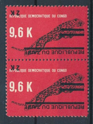 [33630] Zaire Good pair inverted overprint Very Fine MNH stamps