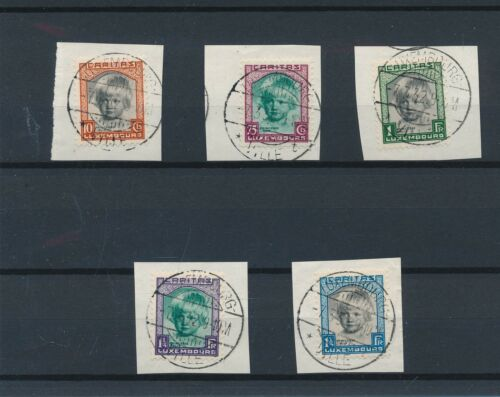 [34265] Luxembourg 1931 Good set on pieces paper Very Fine used
