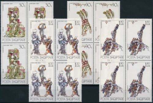 [P15319] Albania 1991 : 4x Good Set Very Fine MNH Stamps in Blocks