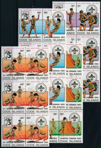 [P15771] Cook 1983 : Scout - 3x Good Set Very Fine MNH Overprinted Stamps