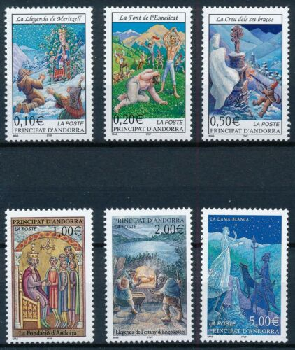 [P16094] French Andorra 2002 : Good Set Very Fine MNH Stamps - $40