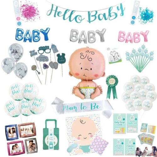 Baby Shower Games Balloons Gender Reveal Photo Booth Props Mum to be Party Decor
