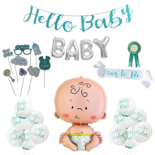 Baby Shower Balloons Giant Baby Foil BABY Banner Hello Baby Balloon Party Decor