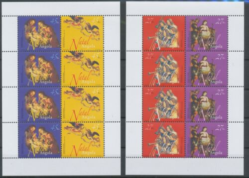 [P53] Angola 2003 Christmas set (4x) very fine MNH stamps in 2 sheets