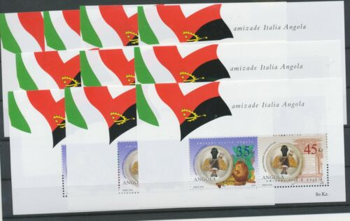 [P891] Angola 2002 Italy Joint-Issued good sheets very fine MNH (10x)