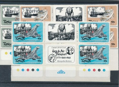 [22022] Tonga Official good gum adhesive lot very fine MNH stamps imperf