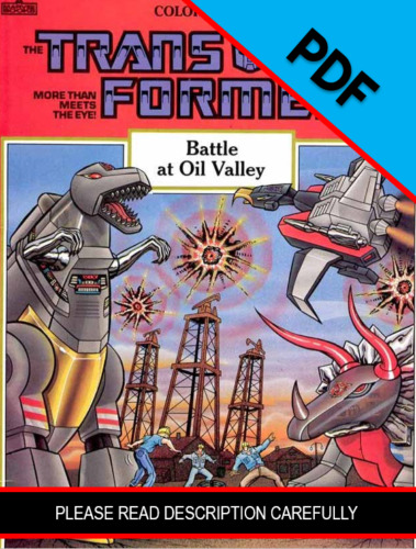 Transformers Battle at Oil Valley Coloring Book 1986 *PDF DIGIFILE*