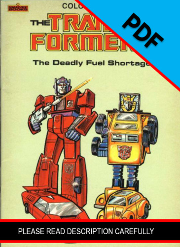 Transformers The Deadly Fuel Shortage Coloring Book 1984 *PDF DIGIFILE*