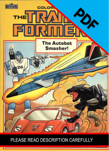 Transformers The Autobot Smasher Coloring Book 1985 *PDF DIGIFILE*