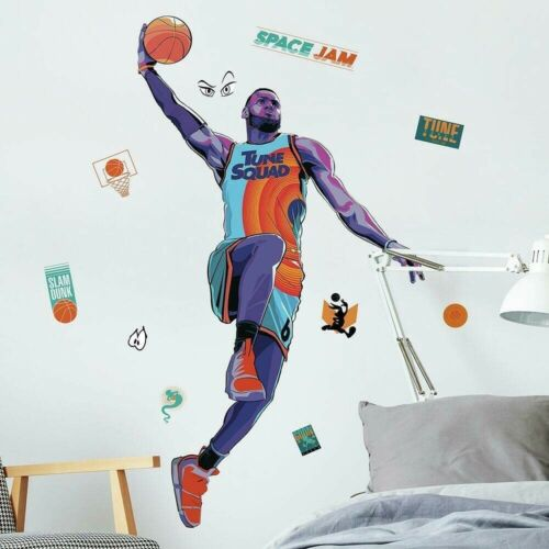 Space Jam LEBRON JAMES Peel & Stick Giant Wall Decals Basketball Player Stickers