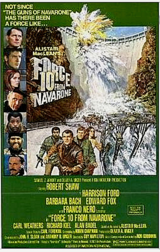 """16mm Film Feature """"Force 10 from Navarone"""" Harrison Ford  SCOPE 3-1600' Mylar"""