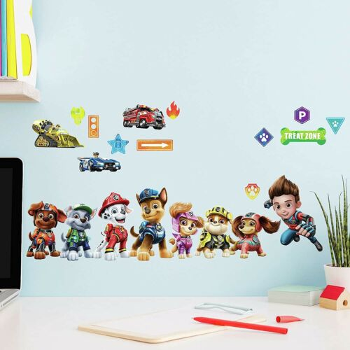 Paw Patrol Movie Peel & Stick Wall Decals Marshall, Rubble, Chase, Skye Stickers