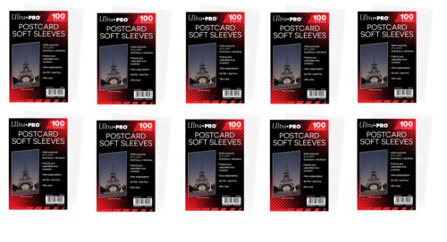 (1000 Count) Ultra Pro Postcard Sleeves Archival Safe (10 Packs) Acid/PVC Free