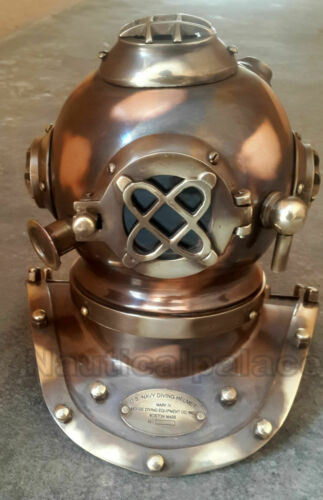 Reproduction Brass Copper Mini Diving Diver Helmet Nautical Decor Diving Helmet