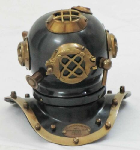 Vintage Brass Deep Sea U.S Navy Mark IV Mini Diving Helmet Divers Helmet