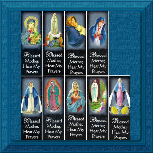 Bookmark CATHOLIC Holy Card Bible Christian Blessed Mother Mary PRAYER 9 Choices