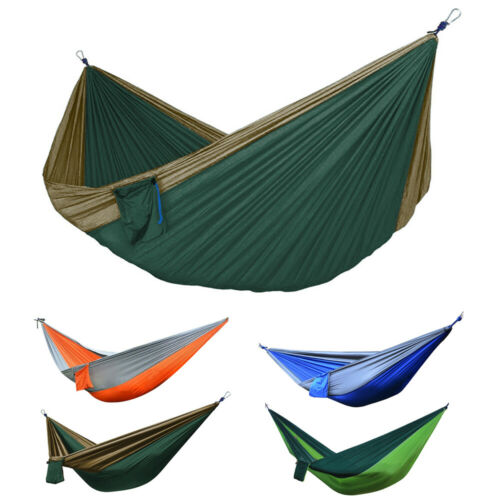 Portable Double 2 Person Nylon Parachute Outdoor Camping Hammock Hanging Swing