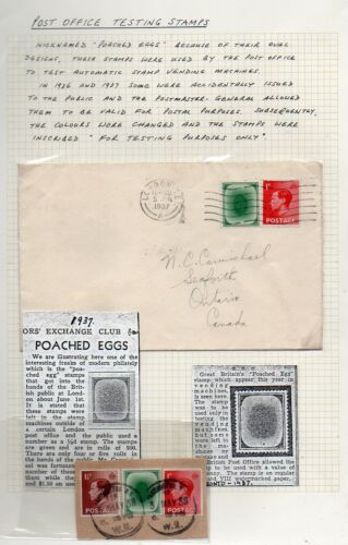G.B.: 1937 KEVIII cover to Canada with 'poached egg' stamp