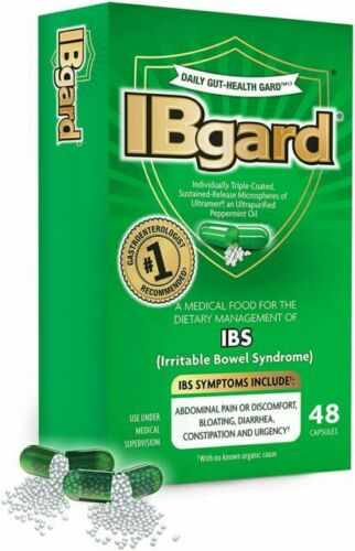 IBgard for Irritable Bowel Syndrome 48 Capsules New in Box FREE Shipping