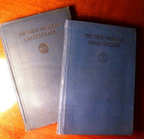 Antique Books 1906 The NEW HUDSON Shakespeare - Merchant of Venice (Set of 2)