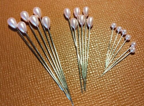 Pale Pink Pearl Corsage or Bout Pins + FREE SHIPPING