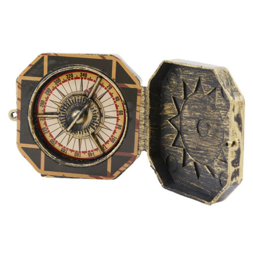 Nautical Antique Solid Brass Working Push Button Sundial Compass No Function KS