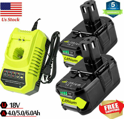 For RYOBI P108 18V 18 Volt One+ Plus High Capacity Lithium-Ion Battery Charger