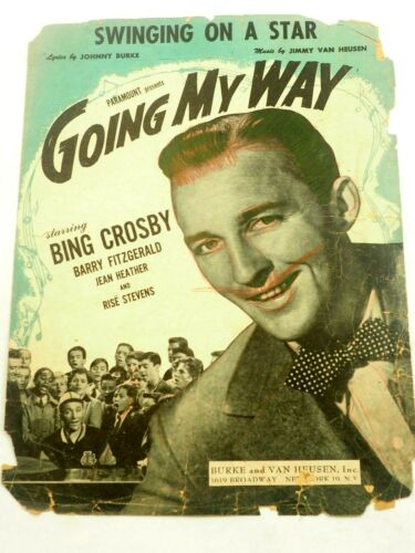 Swing on a Star Going My Way with Big Crosby Piano Sheet Music 1944