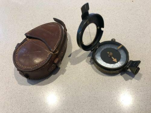 WW1 Werners Compass in leather case